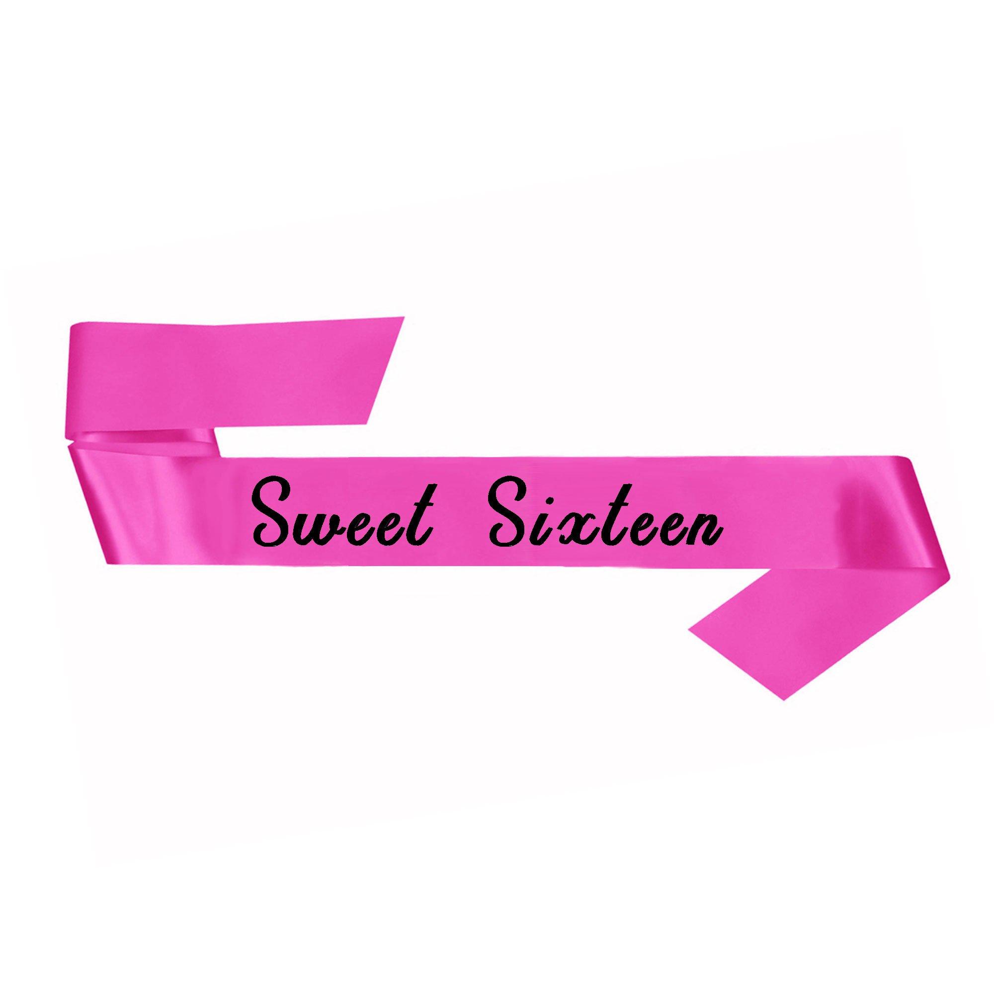 Sweet Sixteen Pink Fabric Sash